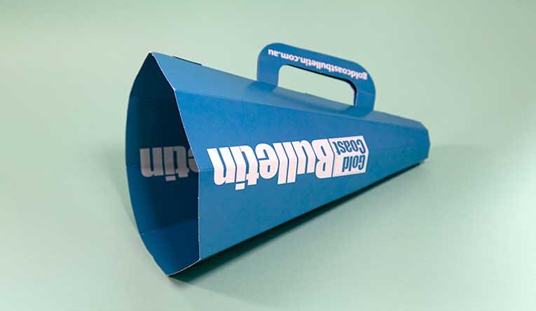 Bulletin paper megaphone