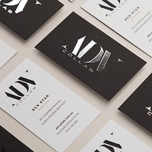 ADV foiled business cards